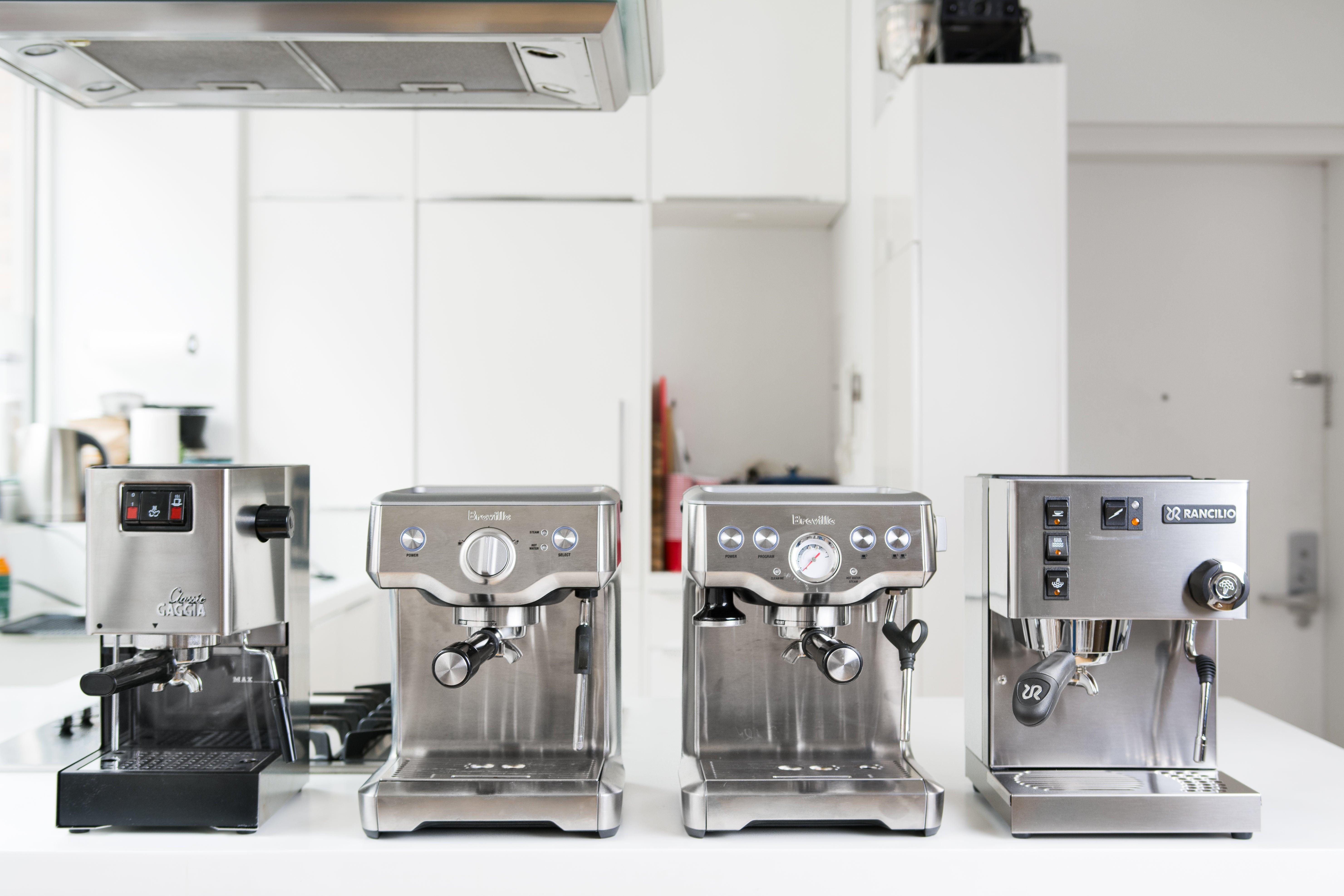 Assortment of espresso machines