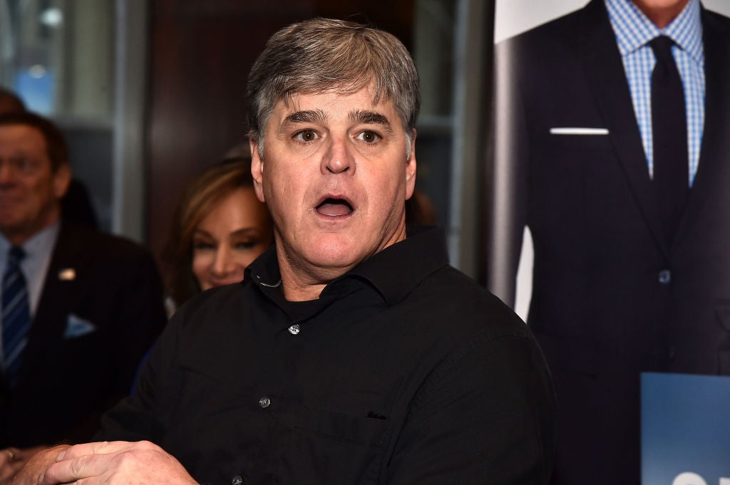 Sean Hannity at a party celebrating Geraldo Rivera's memoir on April 2 in New York City.