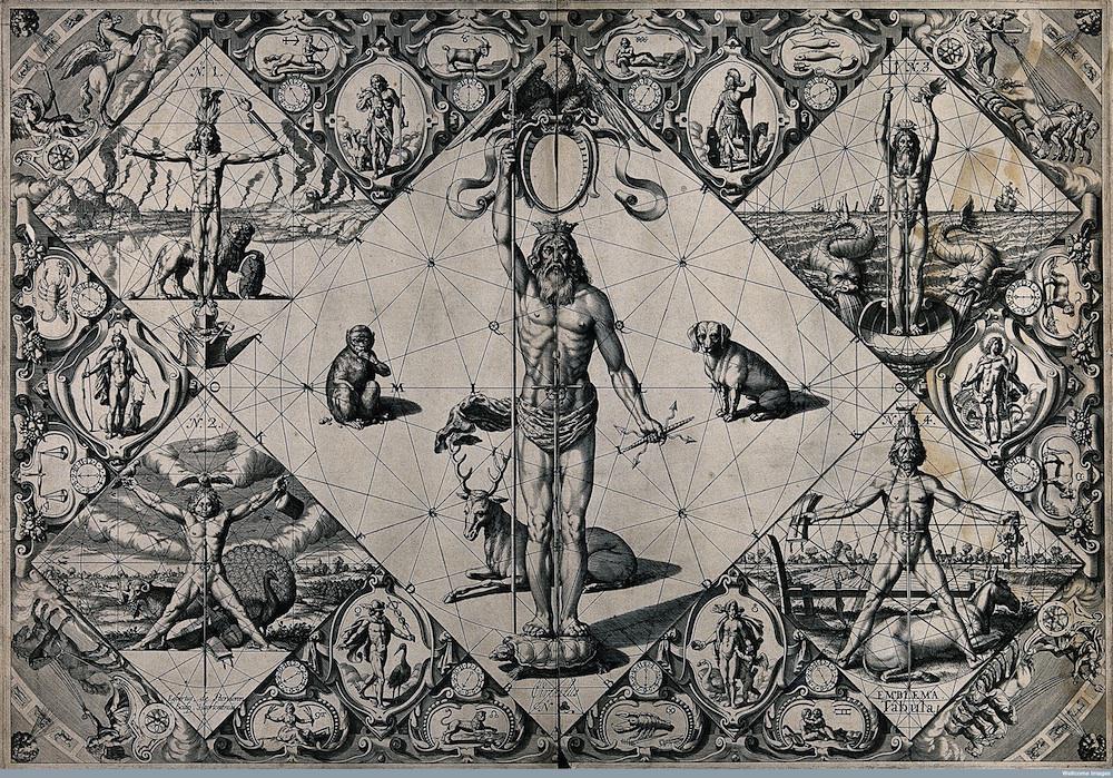 V0041123 Human proportions established through mythological figu