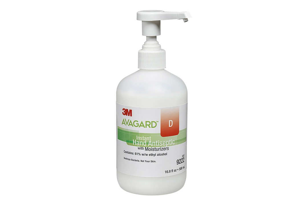Avagard hand sanitizer bottle.