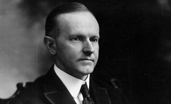 Calvin Coolidge, thirtieth President of the United States serving from 1923 to 1929.
