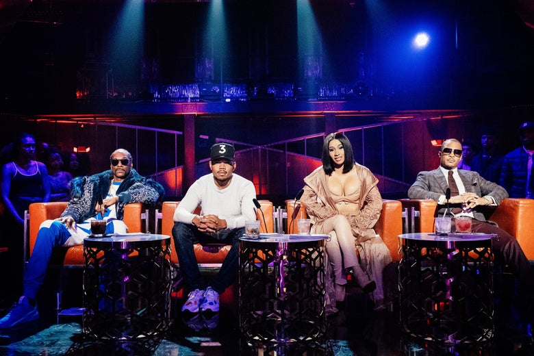 Rhythm + Flow judges Snoop Dogg, Chance the Rapper, Cardi B, and T.I.