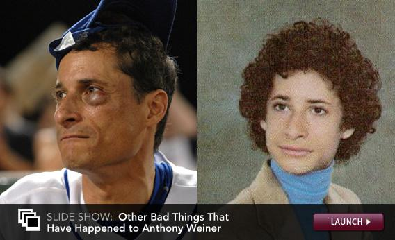 Click to launch slideshow of other bad things that have happened to Weiner.