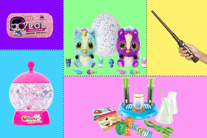 Composite image of various toys.