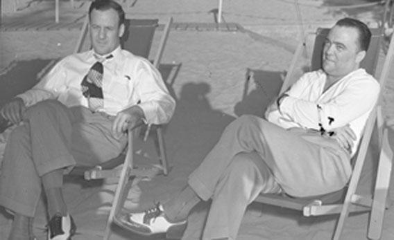 Clyde Tolson and J. Edgar Hoover.