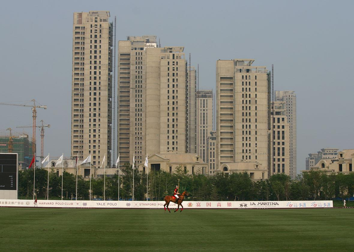 A polo player from Harvard rides down the field with luxury apar