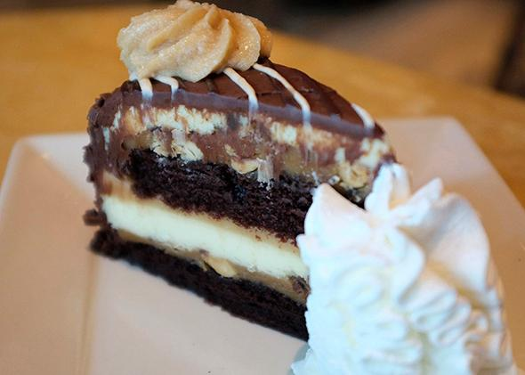 The Cheesecake Factory's Reese's Peanut Butter Chocolate Cake Cheesecake.