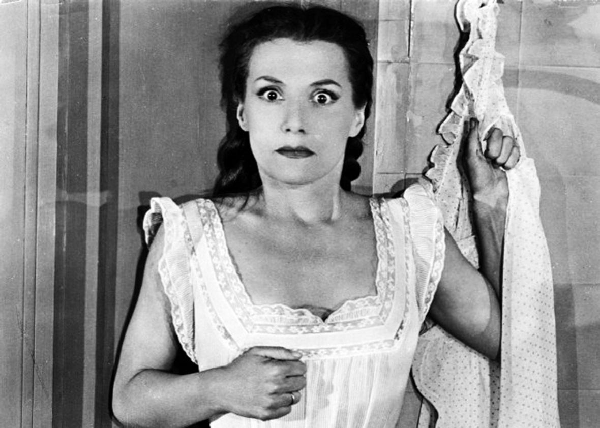 Véra Clouzot in Diabolique.