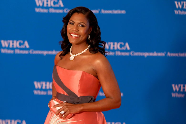 Omarosa Manigault attends the 2018 White House Correspondents' Dinner on April 28 in Washington.