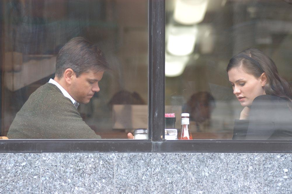 Matt Damon and Anna Paquin in Margaret.