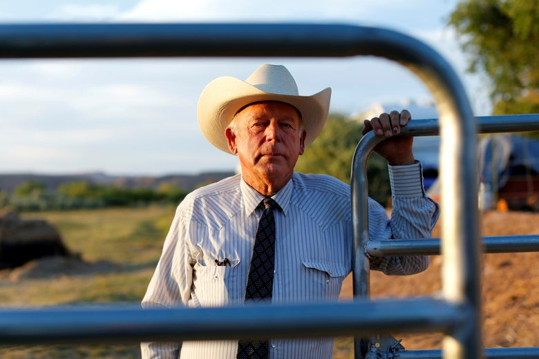 Cliven Bundy on his ranch in Bunkerville, Nevada in 2014. REUTERS/Mike Blake/File Photo