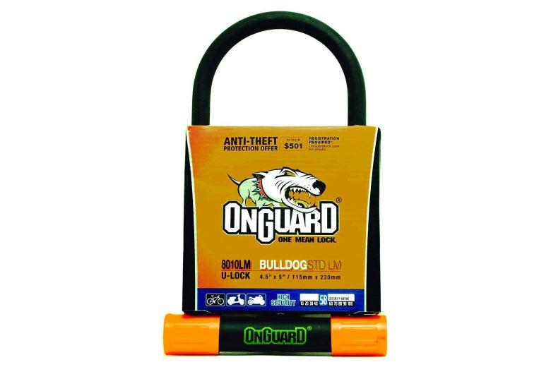 OnGuard Bulldog lock.