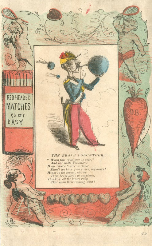 Satirical Civil War valentine.