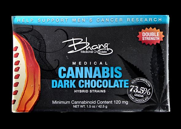 Products on sale at the Denver Relief marijuana dispensary. Cannabis Dark Chocolate, soon legal in Colorado.