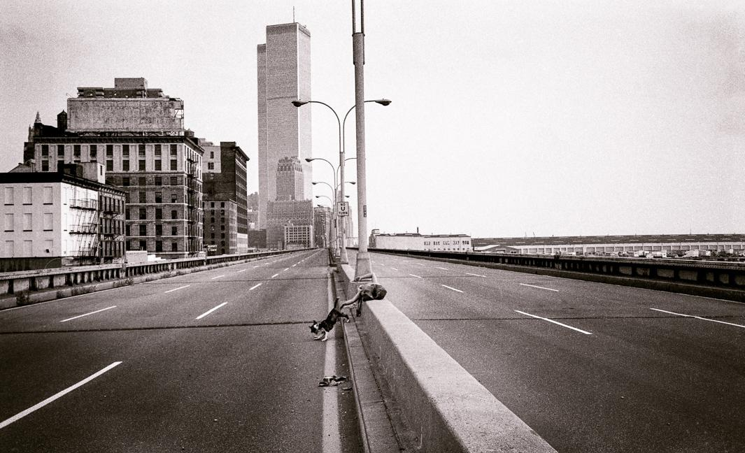West Side Drive after collapse, New York City, 1974.