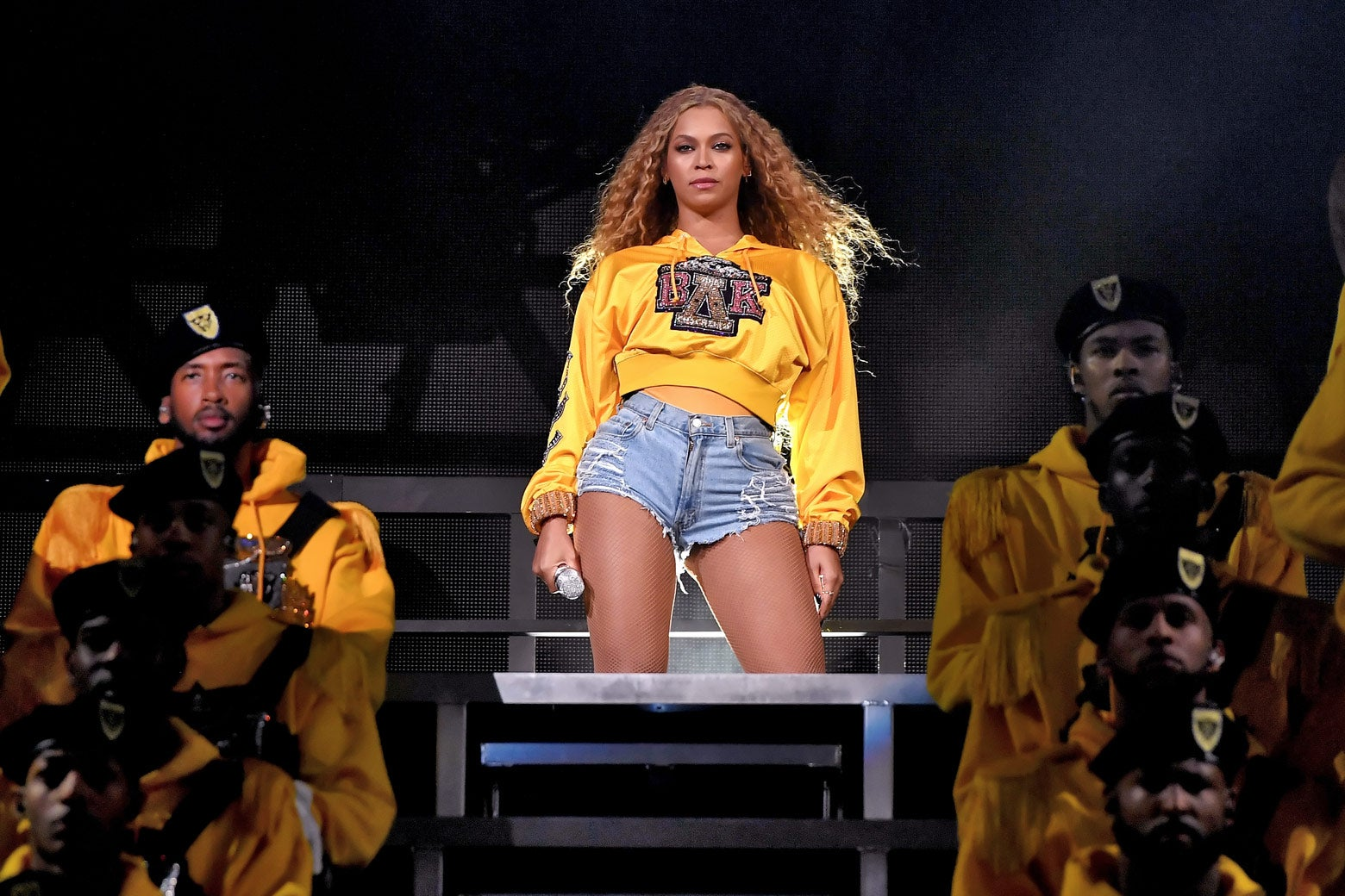 Beyonce Knowles performs onstage during the first weekend of Coachella on Saturday in Indio, California.
