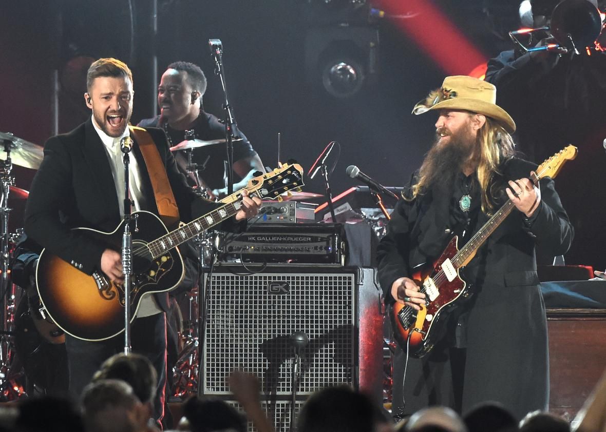 Justin Timberlake and Chris Stapleton brought the house down.