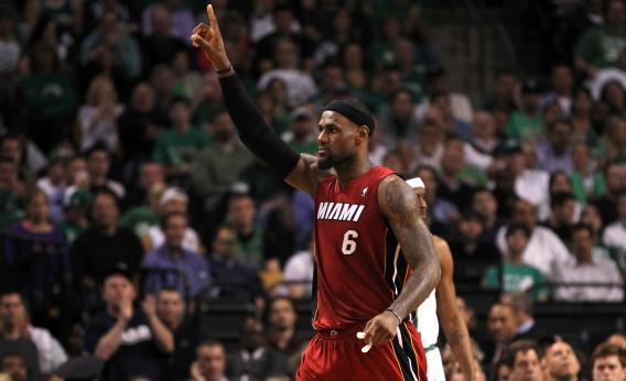 a8adb677661 LeBron James scored 45 points to lead the Miami Heat over the Boston Celtics  in Game 6 of the Eastern Conference Finals