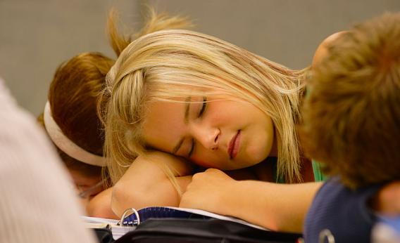 There's a legitimate reason why teenagers fall asleep in class.