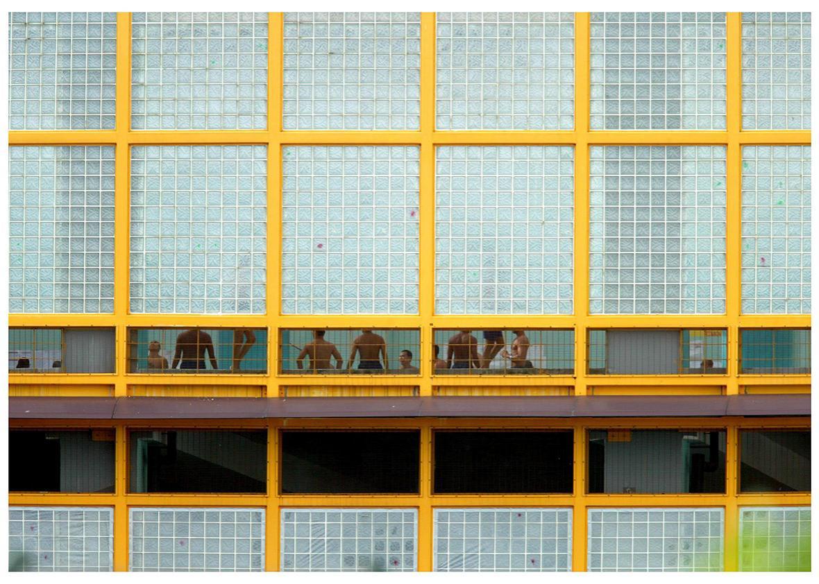Prisoners inside Singapore's Changi Prison.