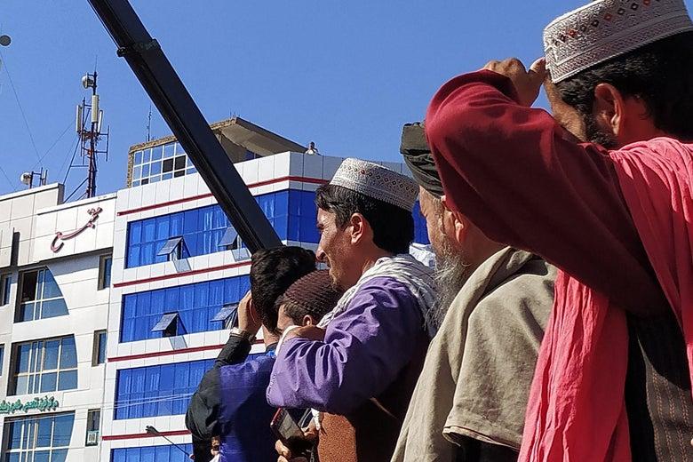Taliban Hanged Bodies of Criminals from Excavators