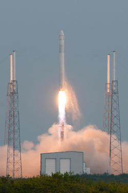 The Falcon 9 launched