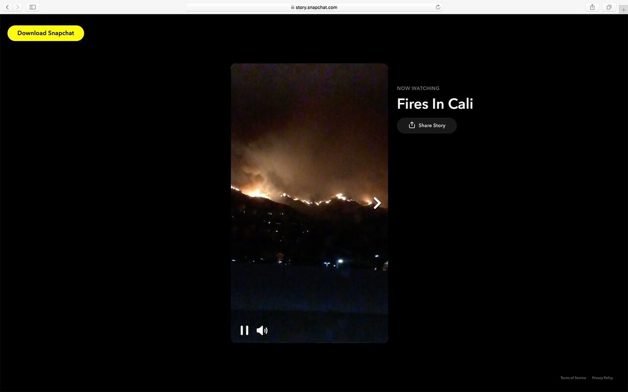 A Snap of fires in California.