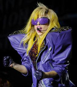 Lady Gaga performing. Click image to expand.