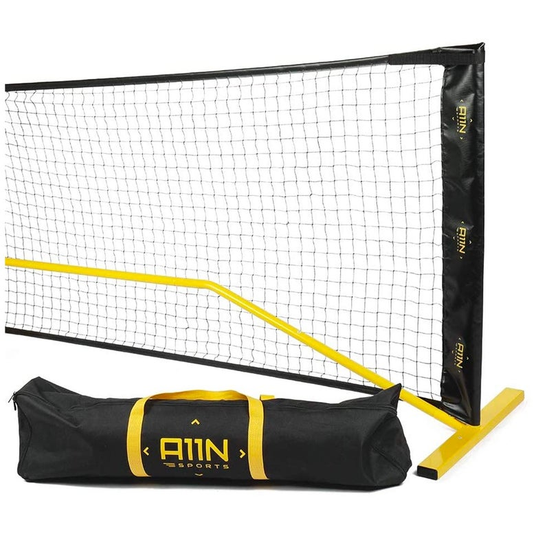 Pickleball net with carrying bag