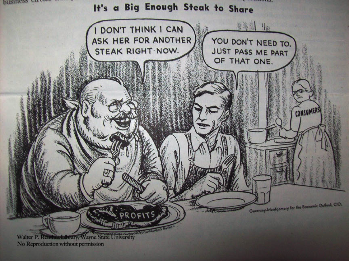 A Congress of Industrial Organizations cartoon from 1948