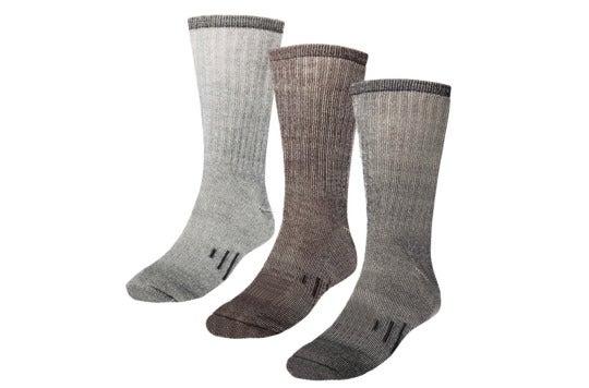 Three thermal wool socks.
