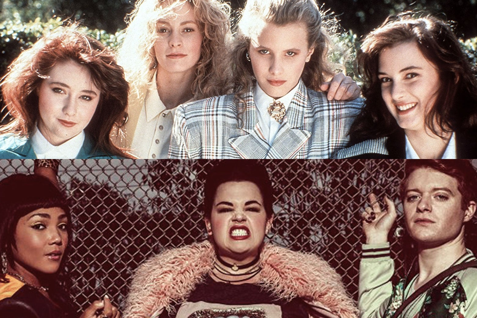 Top: The original Heathers. Bottom: The new Heathers.