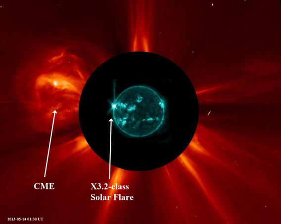 solar flare May 14