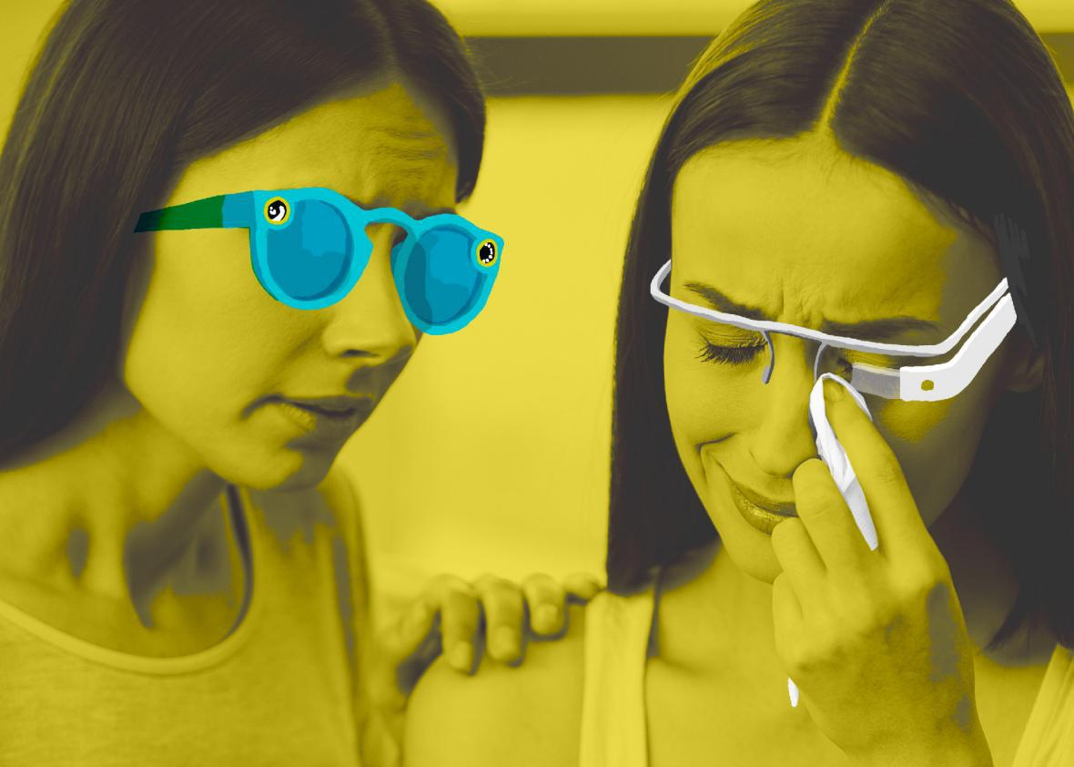 Snapchat's Spectacles were a flop, and to the masses, Google Glass was a  joke, and those wearing it, nerds.