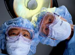 Doctors in operating room.