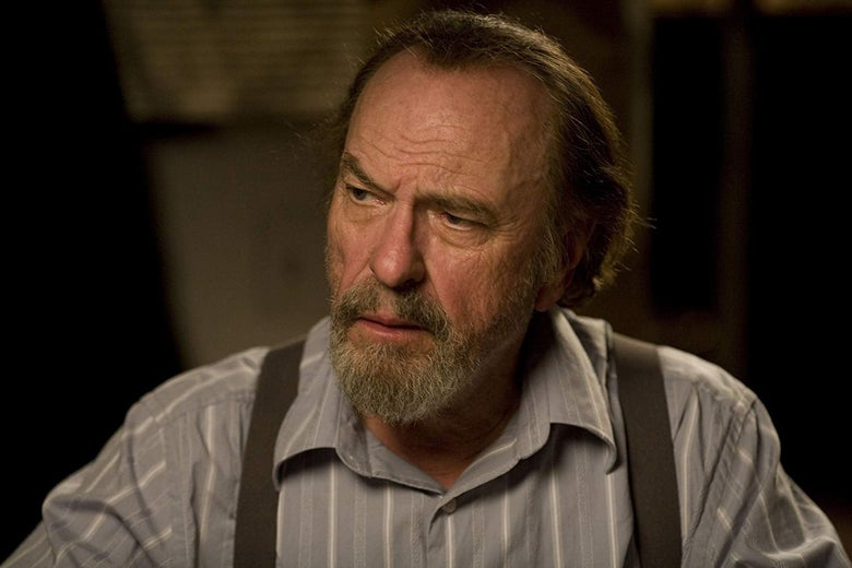 Actor Rip Torn, in a closeup from one of his movies.