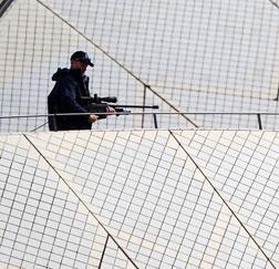 A police sniper.