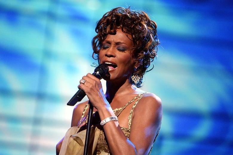 Whitney Houston performs in 2004.