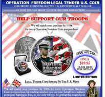 Operation Freedom Legal Tender U.S. Coin