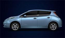 Nissan Leaf car. Click image to expand.