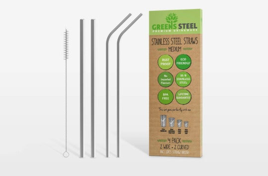 Stainless Steel Straw Set.