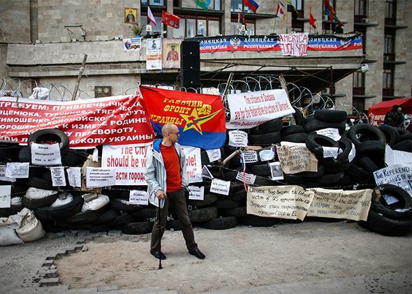 Pro-Russia protester, Eastern Ukraine