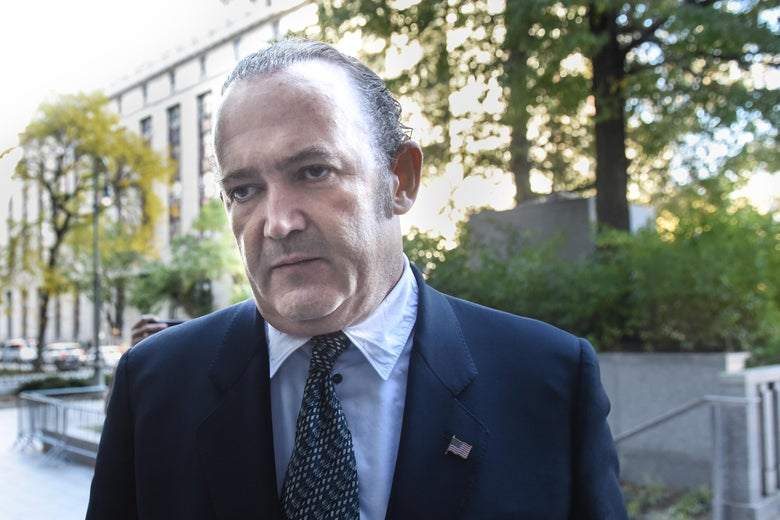 Igor Fruman arrives at federal court for an arraignment hearing on October 23, 2019 in New York City.