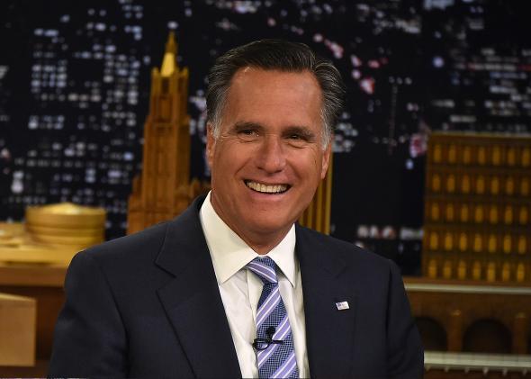 Mitt Romney Upbeat.