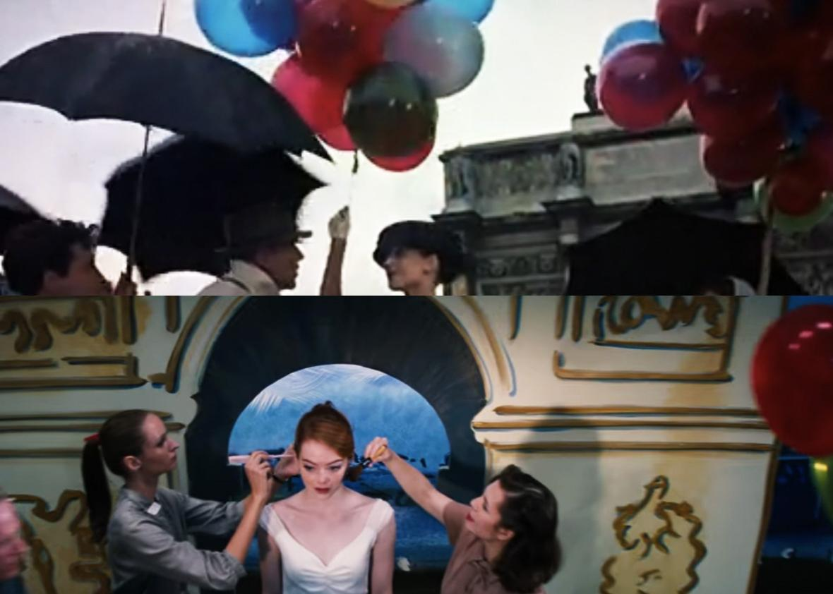 Top: Funny Face. Bottom: La La Land.