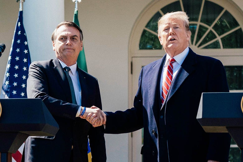 U.S. President Donald Trump and Brazilian President Jair Bolsonaro