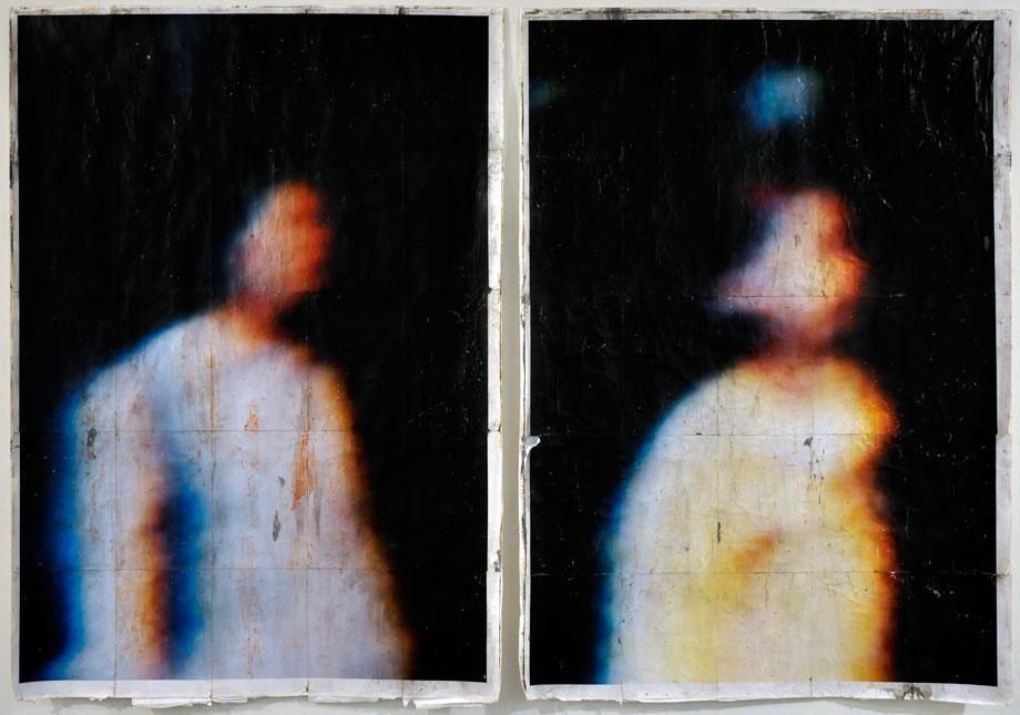 Andrew Sroka, slag gallery, diptych of woman and young girl