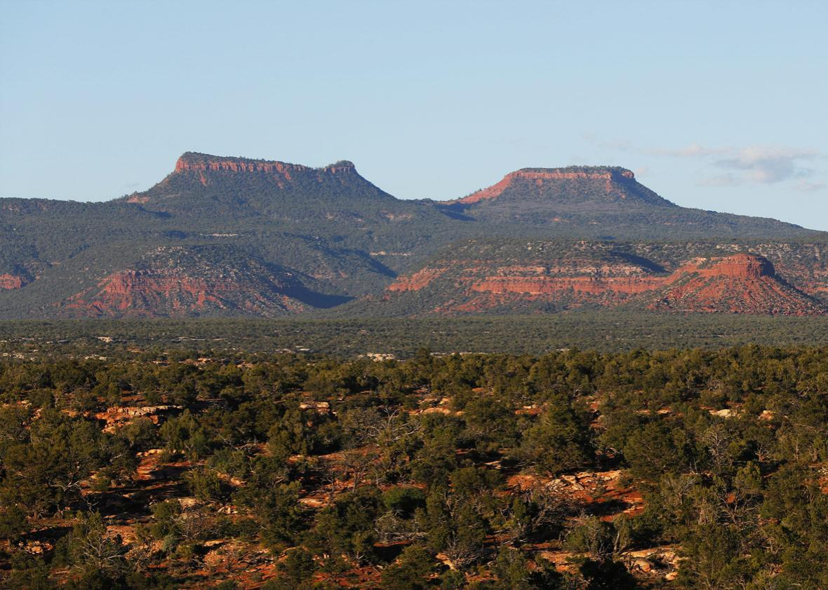 The two bluffs known as the 'Bears Ears'