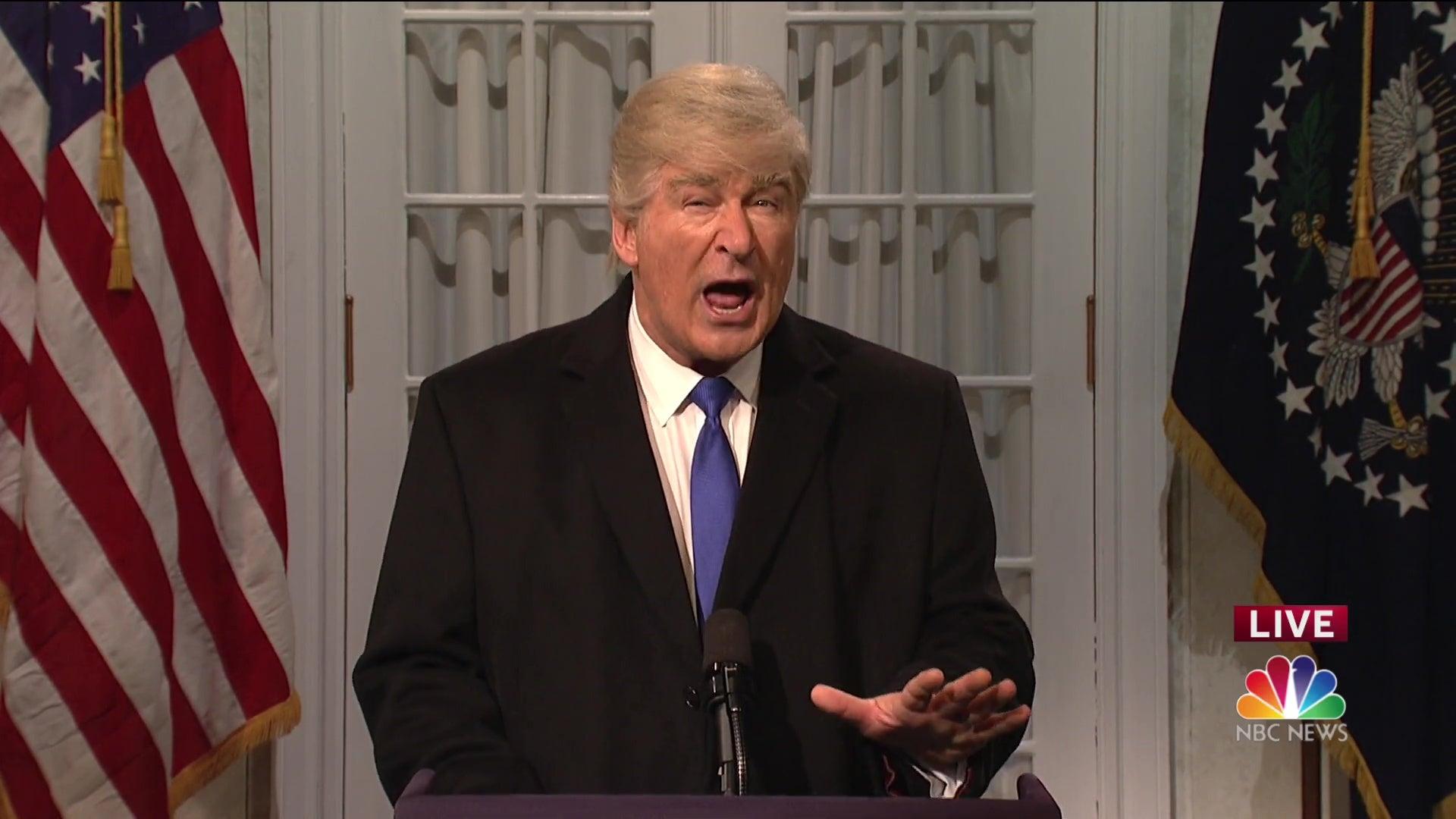 Alec Baldwin as Donald Trump.