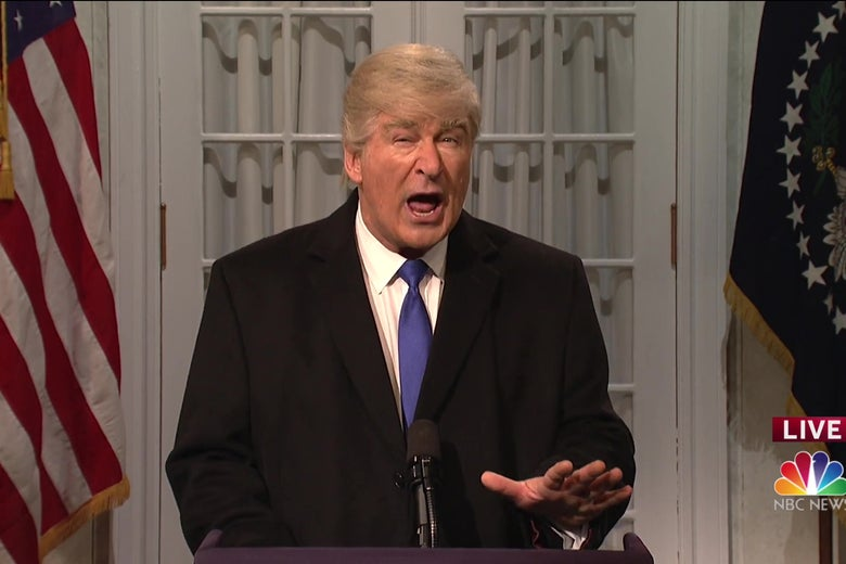Alec Baldwin as Donald Trump.